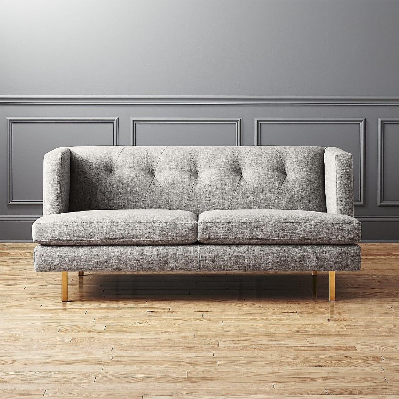 CB2 Light Gray Avec Apartment Sofa - image-4
