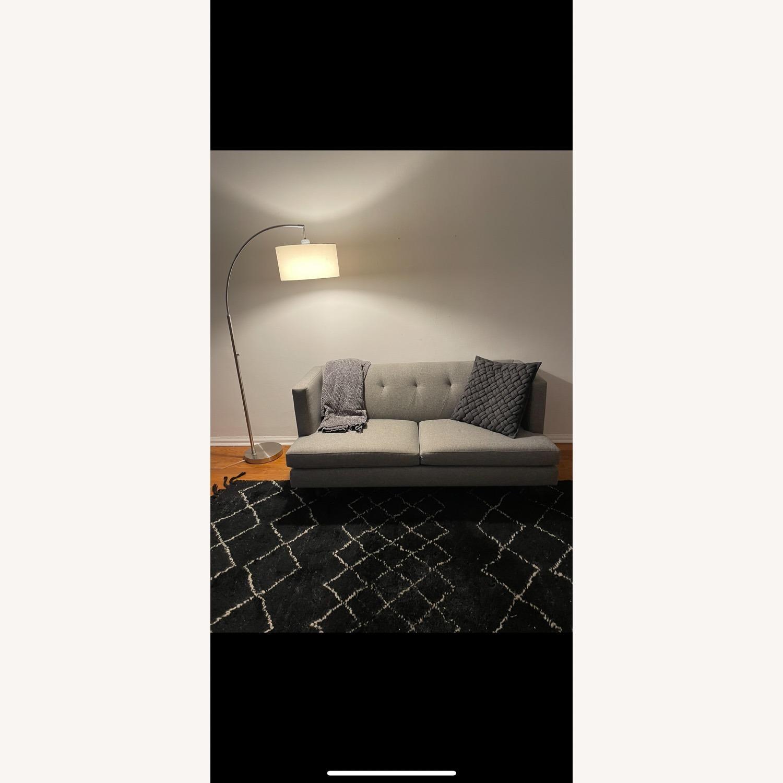 CB2 Light Gray Avec Apartment Sofa - image-1