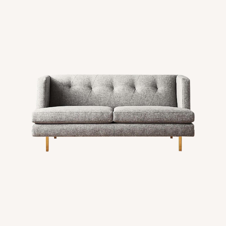 CB2 Light Gray Avec Apartment Sofa - image-0