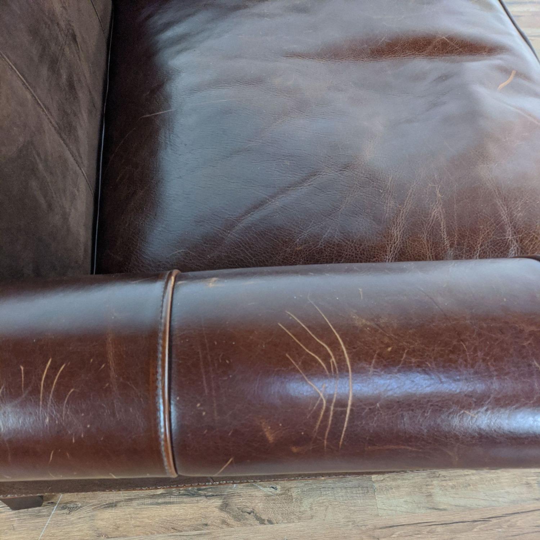 Bernhardt Leather Chair & A Half - image-2
