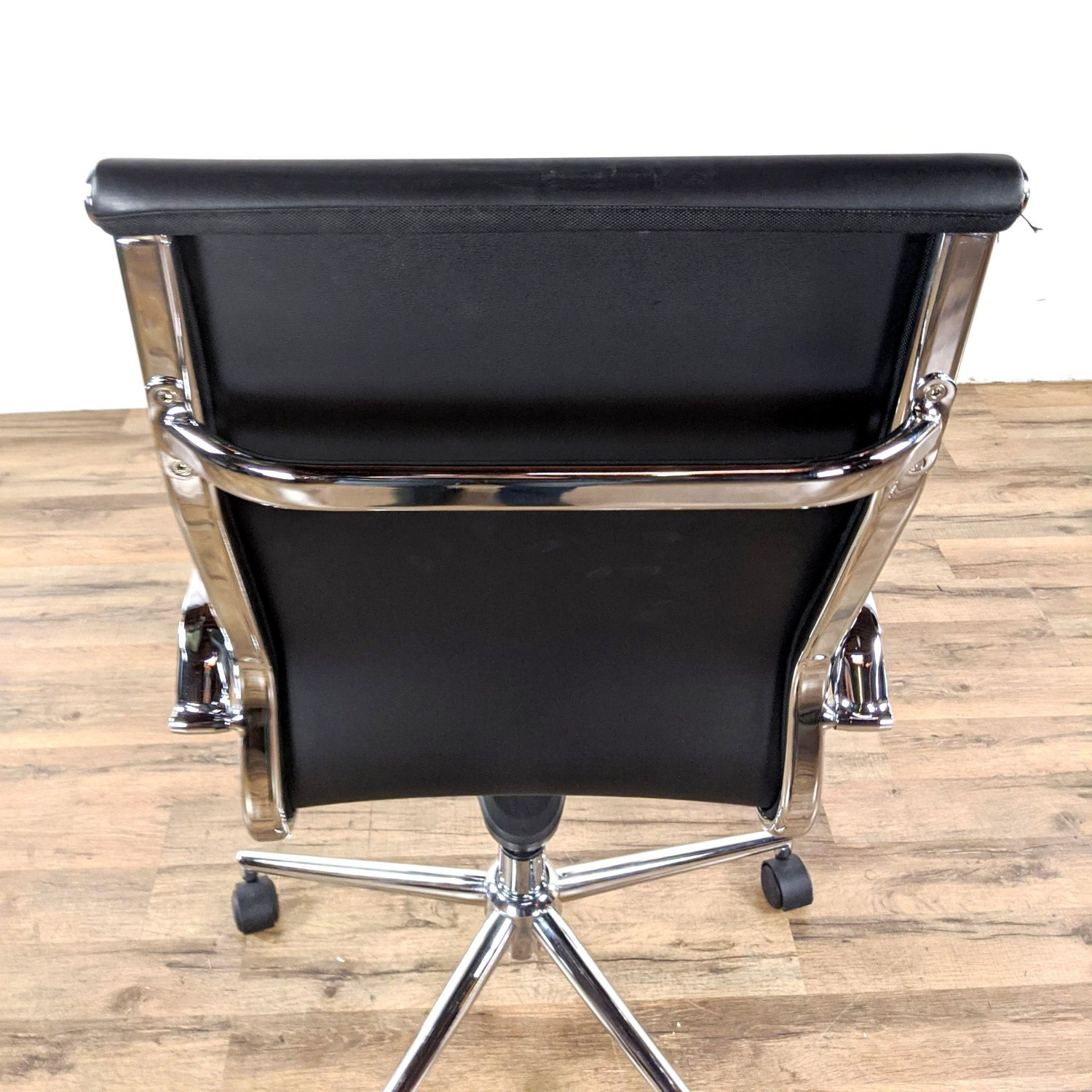 Black Leather Office Chair - image-1