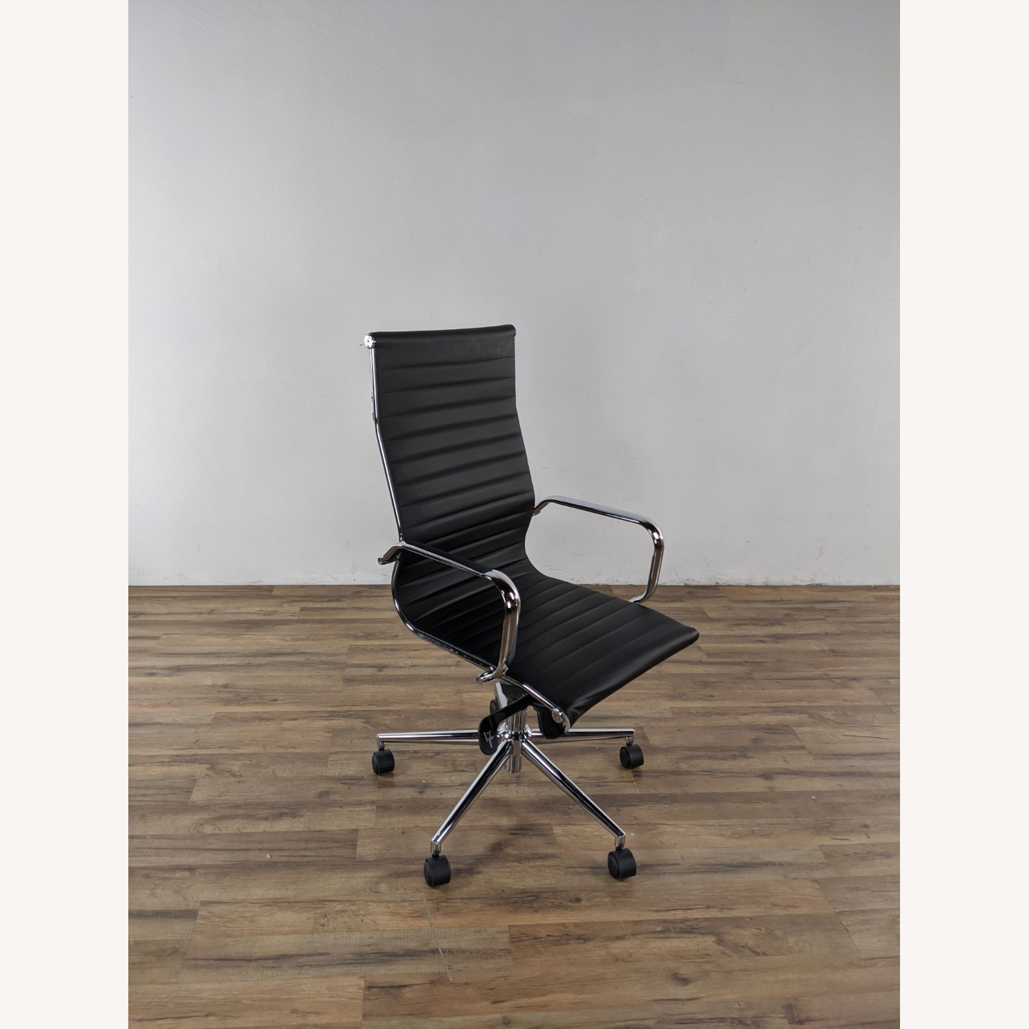 Black Leather Office Chair - image-4