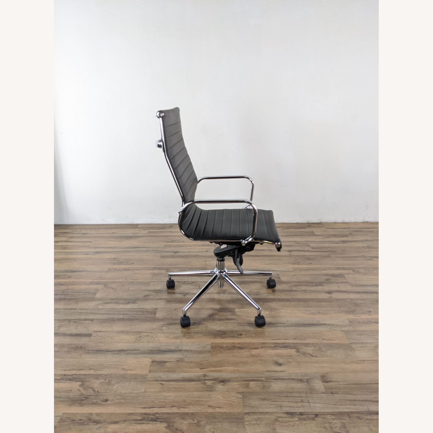 Black Leather Office Chair - image-5