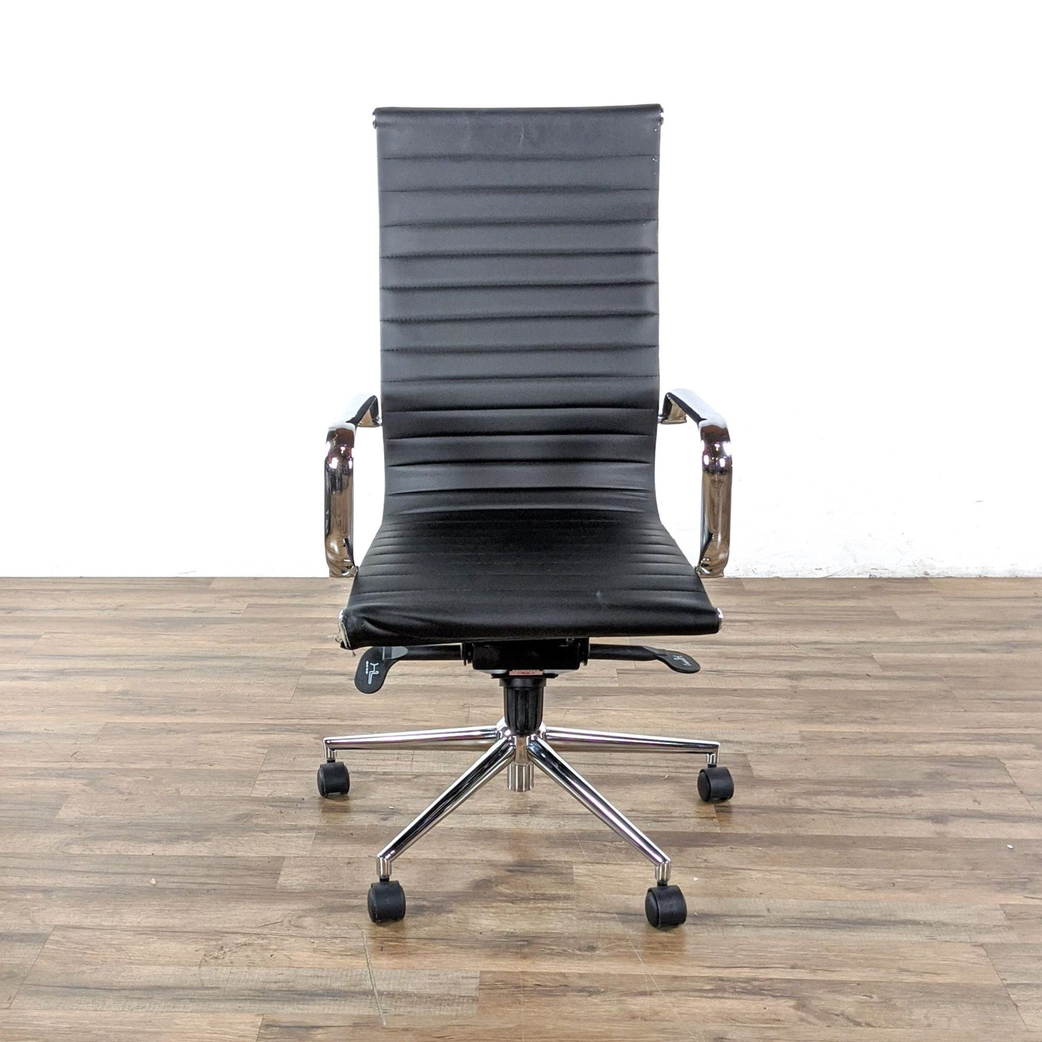 Black Leather Office Chair - image-3