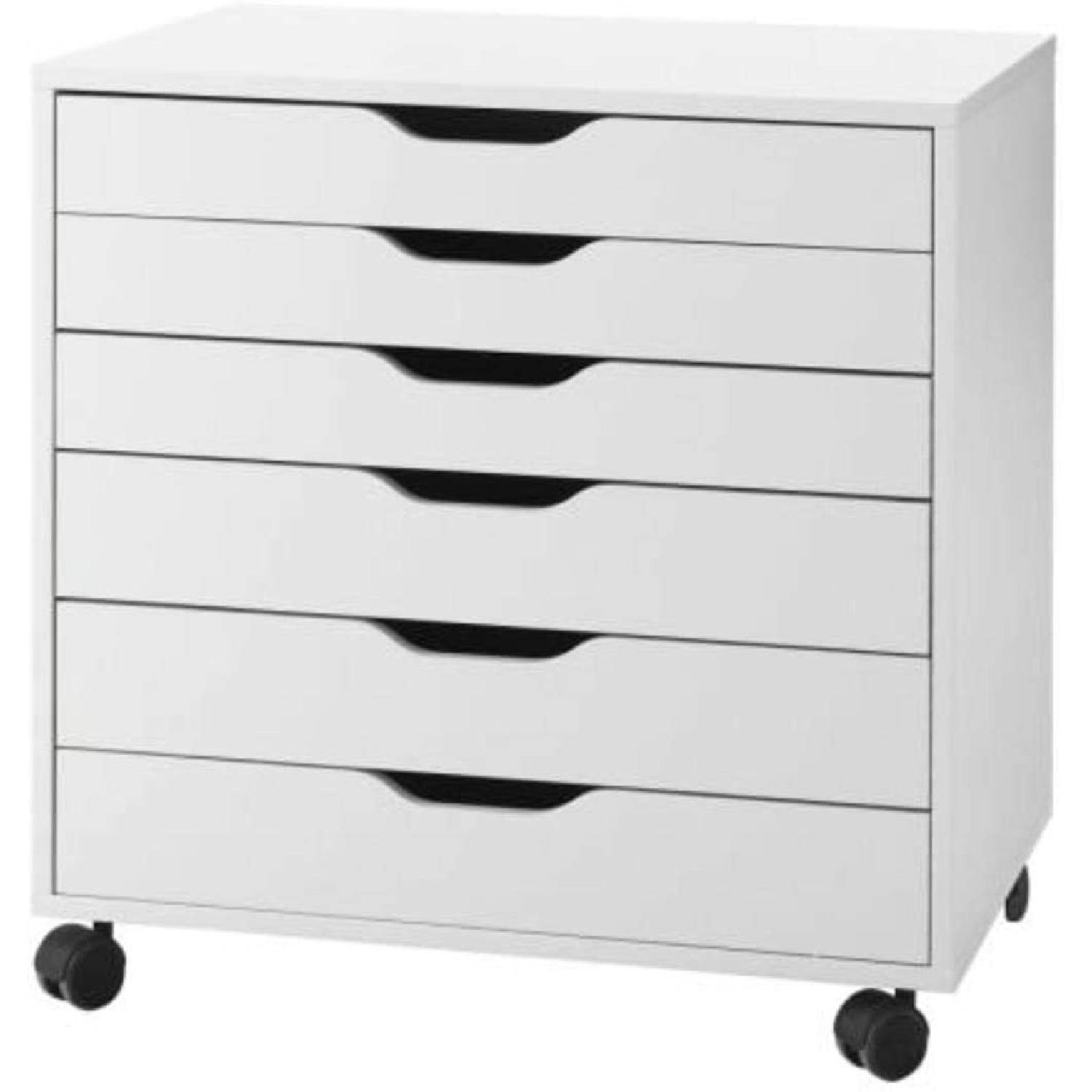 IKEA Pair of Alex Drawers in White - image-4