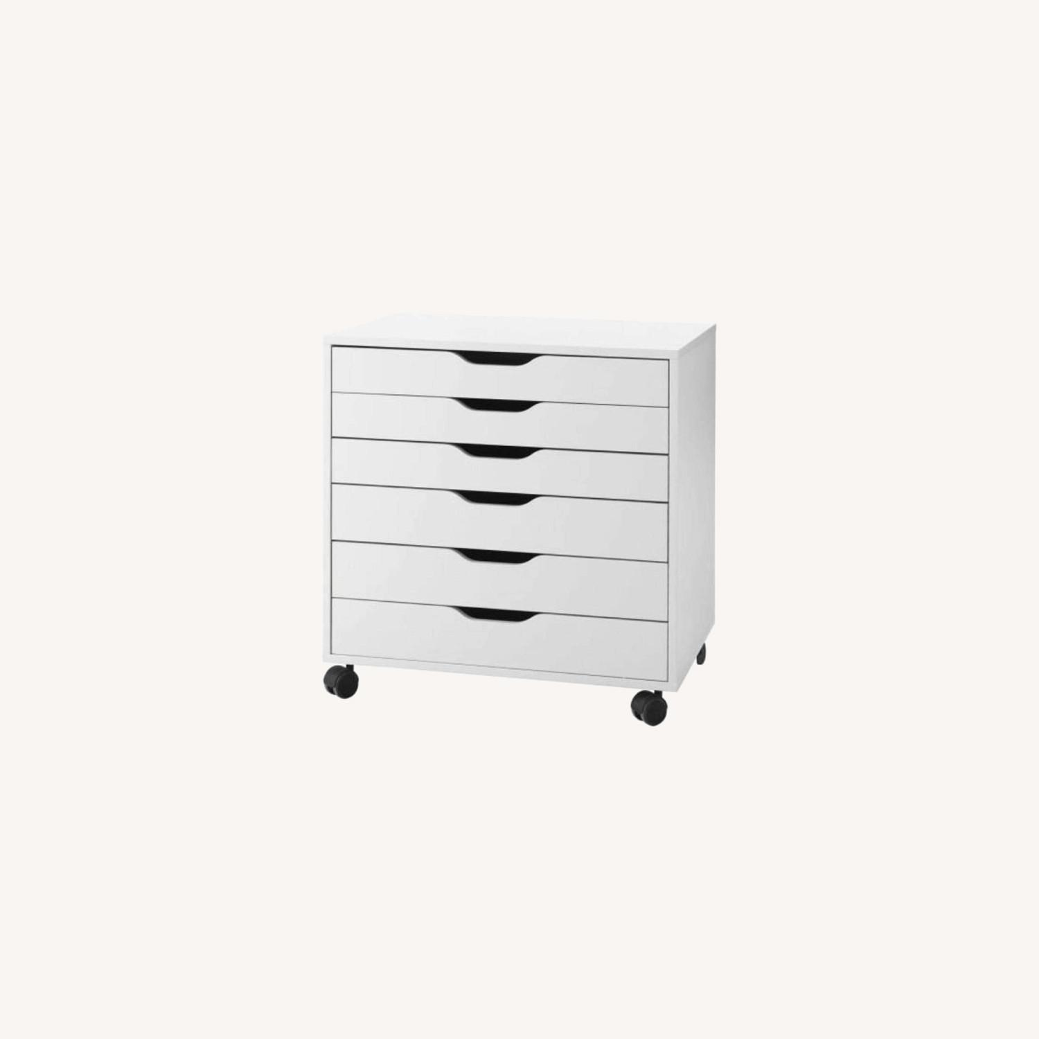 IKEA Pair of Alex Drawers in White - image-0
