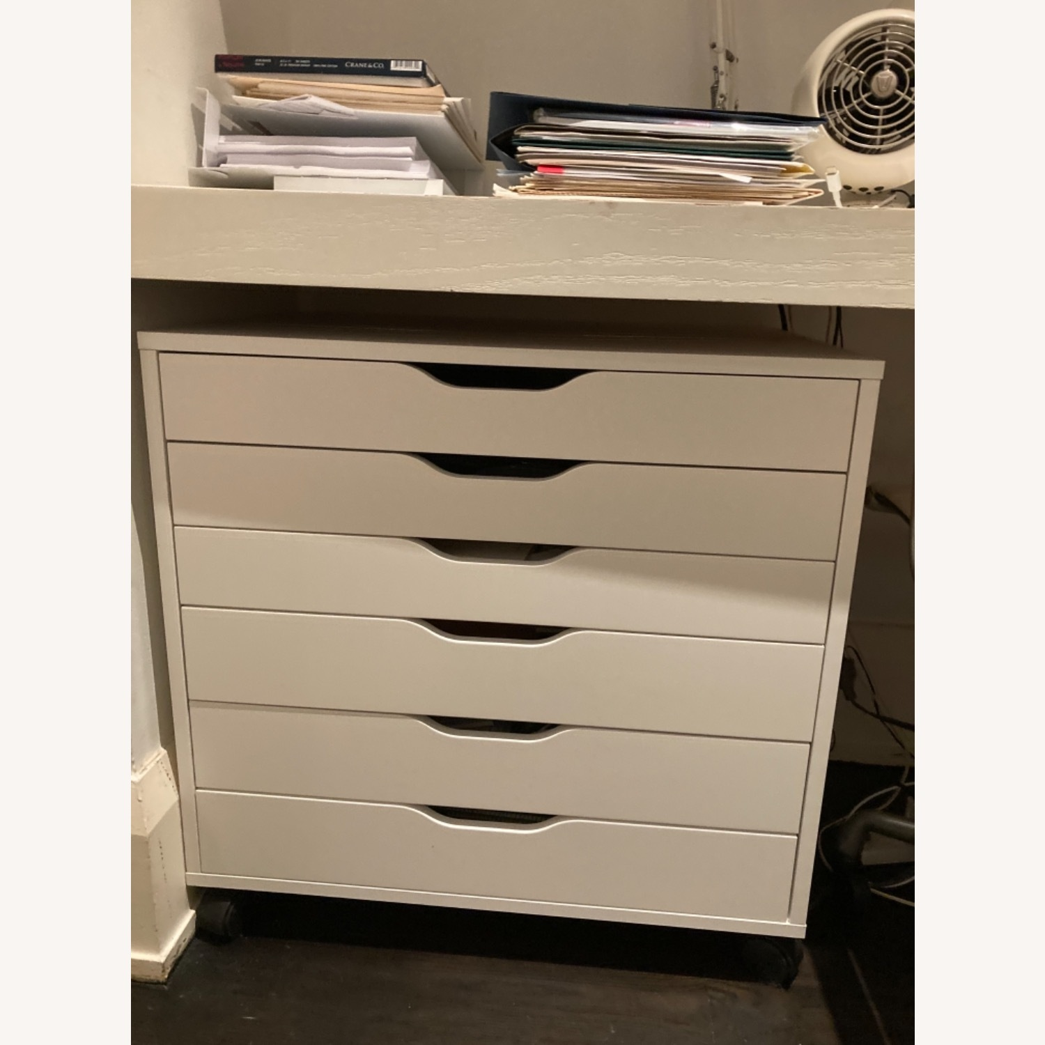 IKEA Pair of Alex Drawers in White - image-3