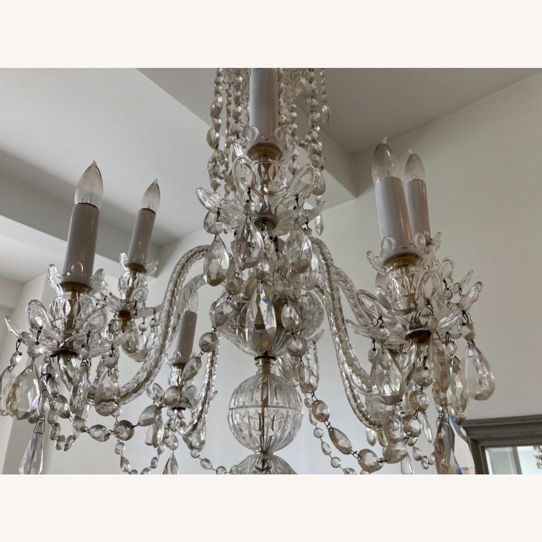 Antique Crystal 8-bulb Chandelier - image-4