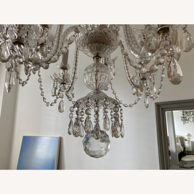 Antique Crystal 8-bulb Chandelier - image-3
