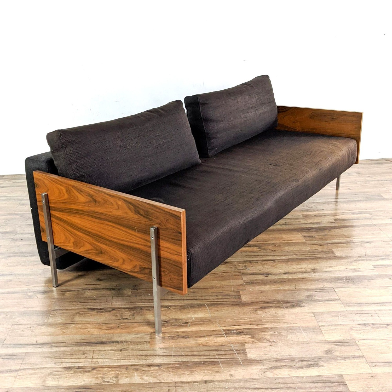 CB2 Exton Espresso Sleeper Sofa - image-1