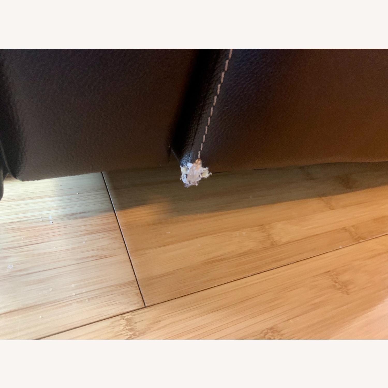 Bob's Furniture Power Leather Sofa - image-5