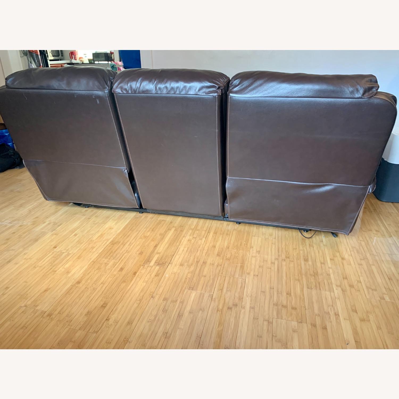 Bob's Furniture Power Leather Sofa - image-7