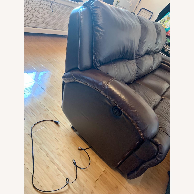 Bob's Furniture Power Leather Sofa - image-2