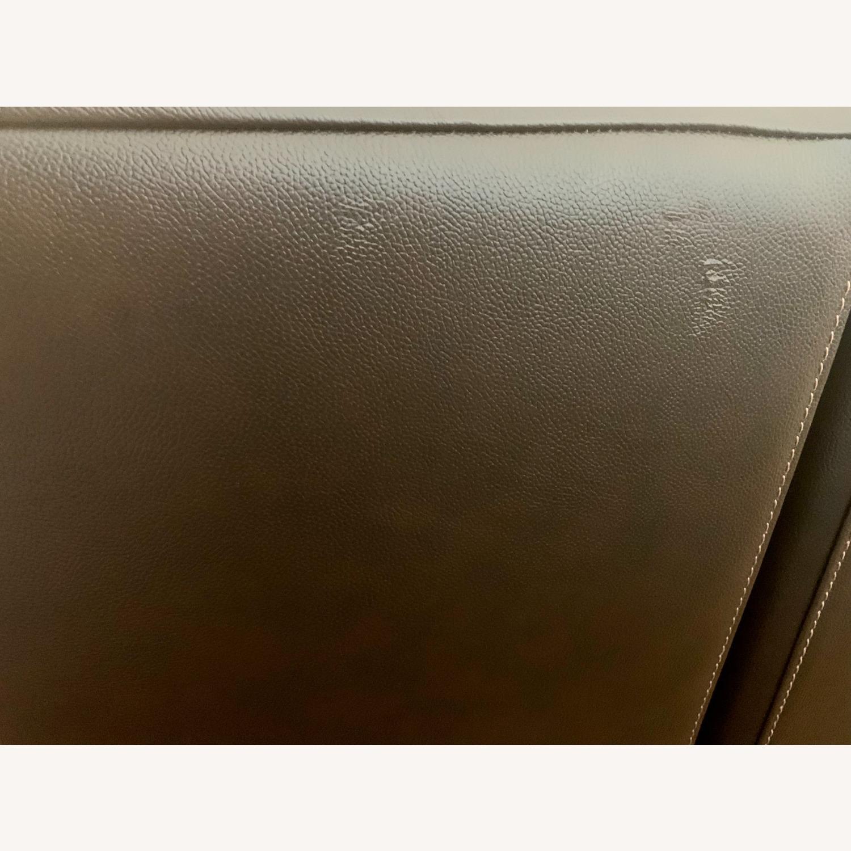 Bob's Furniture Power Leather Sofa - image-4