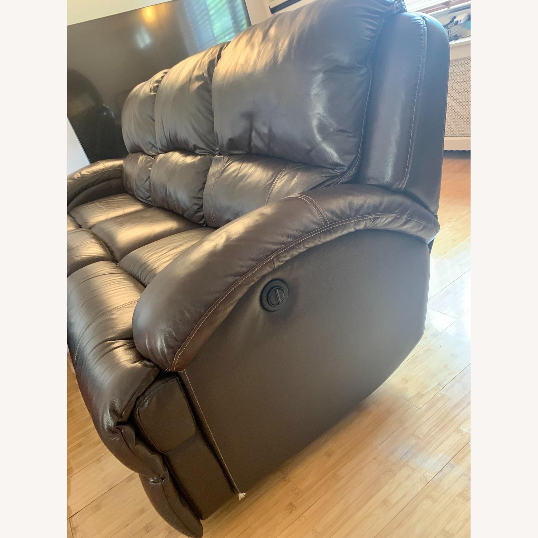 Bob's Furniture Power Leather Sofa - image-3