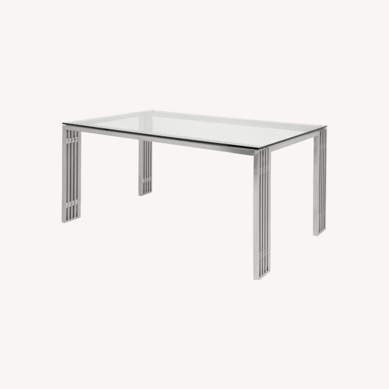 Nuevo Living Glass Metal Frame Table - image-0