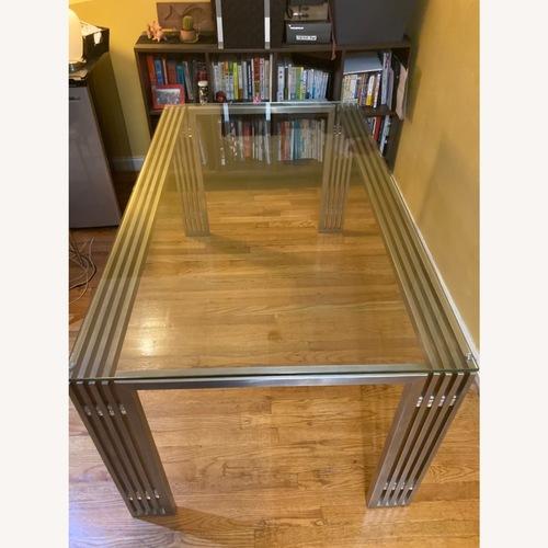 Used Nuevo Living Glass Metal Frame Table for sale on AptDeco
