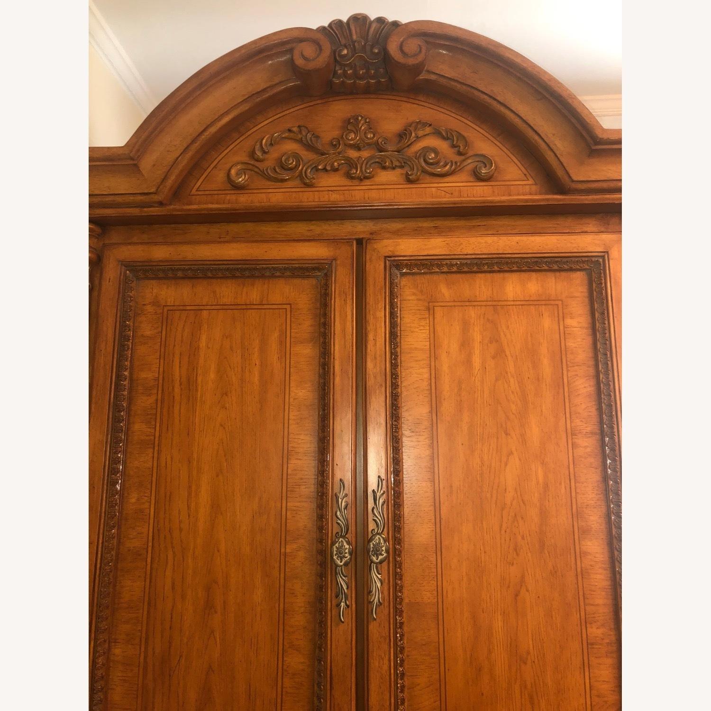 Wooden Walnut Armoire/Wardrobe - image-2