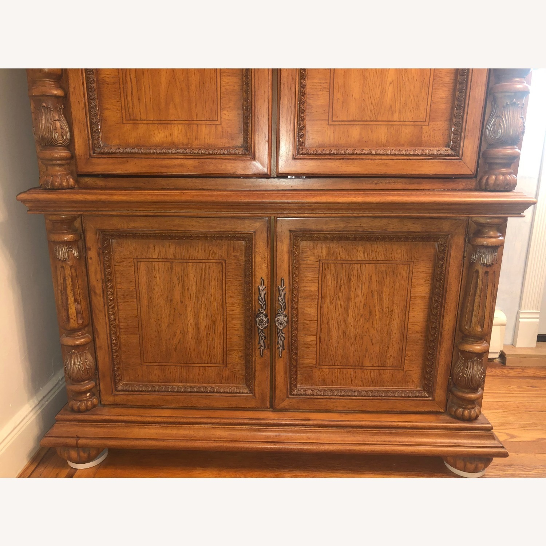 Wooden Walnut Armoire/Wardrobe - image-3