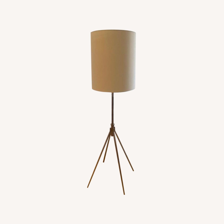 West Elm Silver Adjustable Floor Lamp - image-4