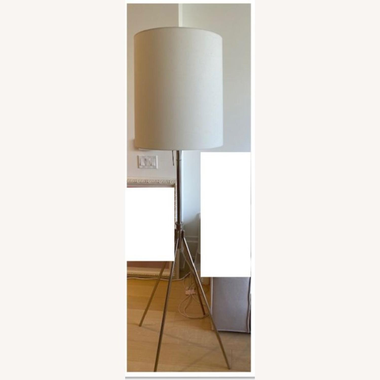 West Elm Silver Adjustable Floor Lamp - image-2