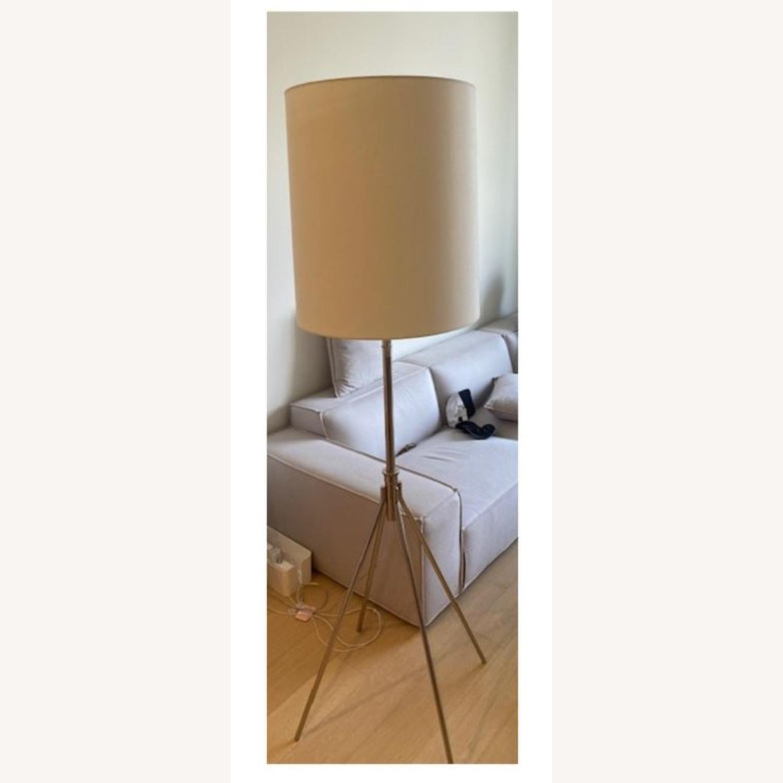 West Elm Silver Adjustable Floor Lamp - image-1