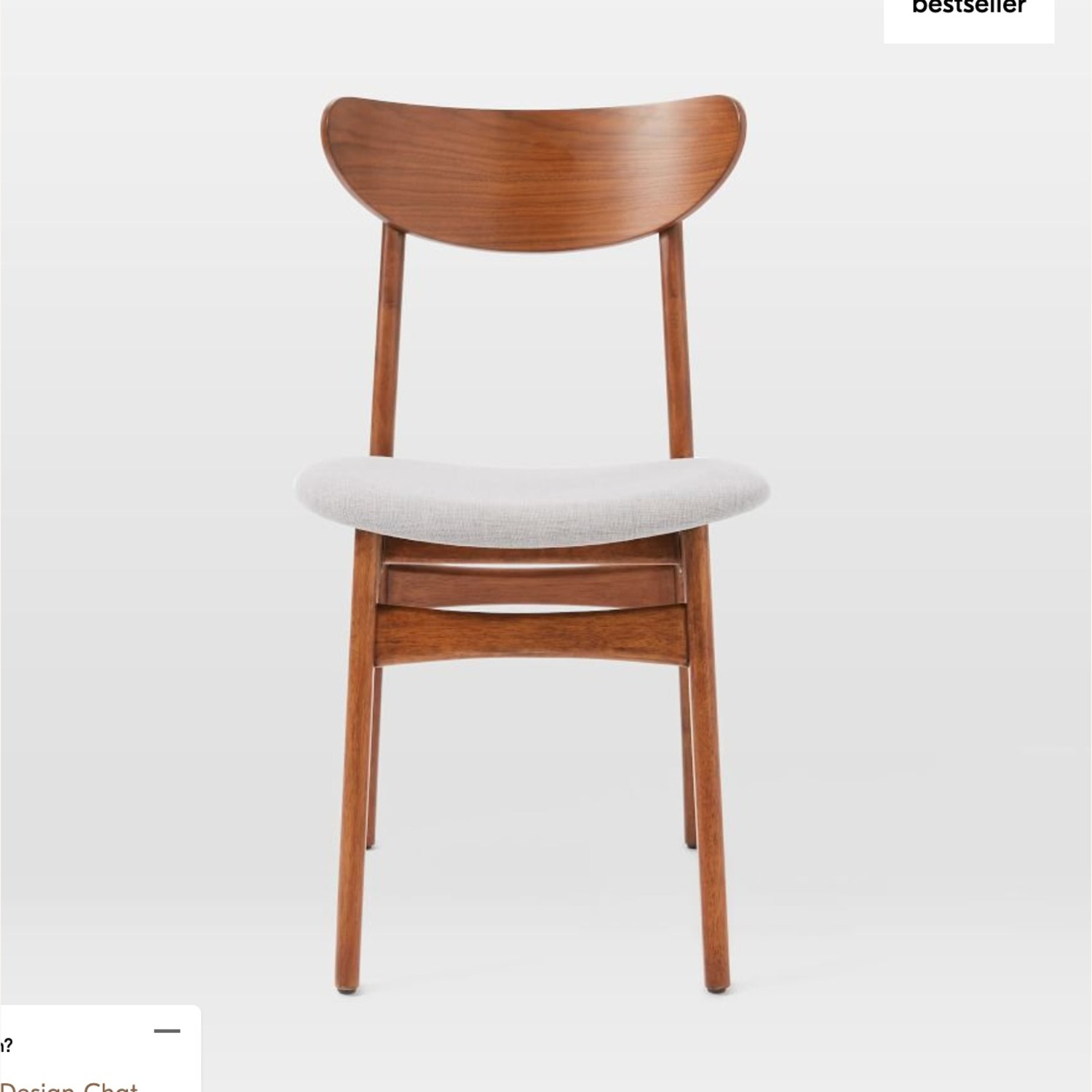 West Elm Classic Caf Upholstered Dining Chair- Set of 2 - image-1