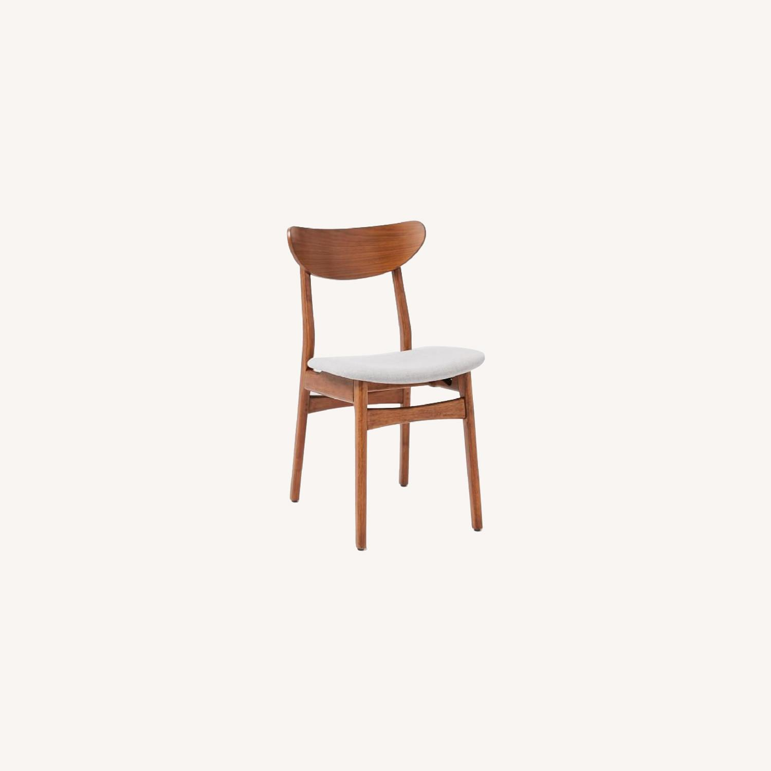 West Elm Classic Caf Upholstered Dining Chair- Set of 2 - image-0