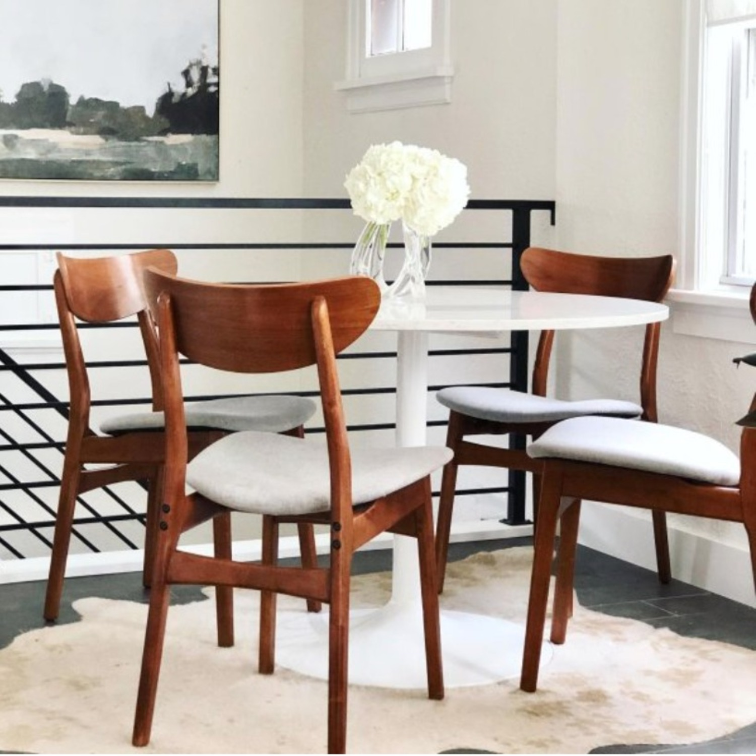 West Elm Classic Caf Upholstered Dining Chair- Set of 2 - image-5