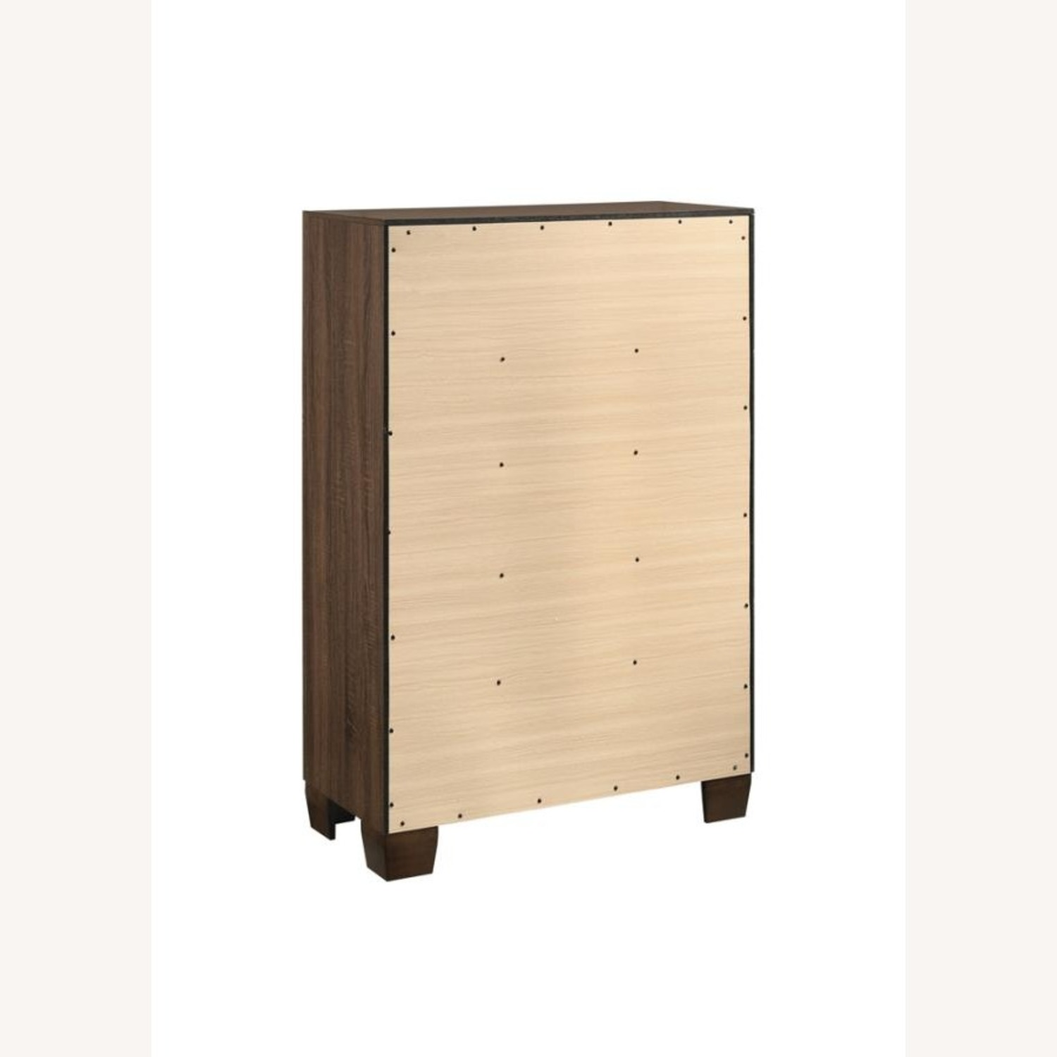 Modern Chest In Warm Brown Finish - image-3