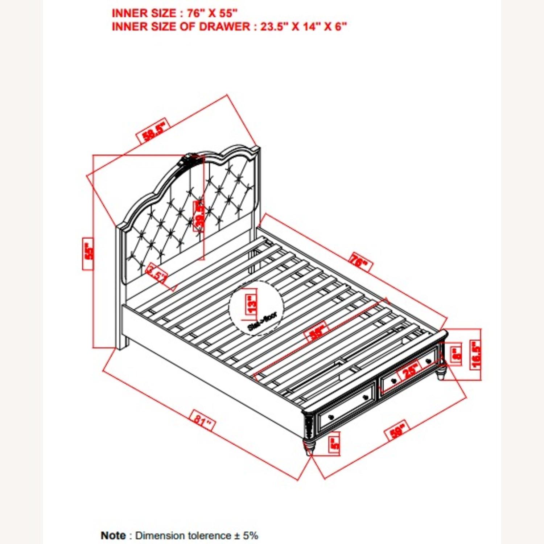 Full Bed In Metallic Lilac Finish W/ Storage - image-3