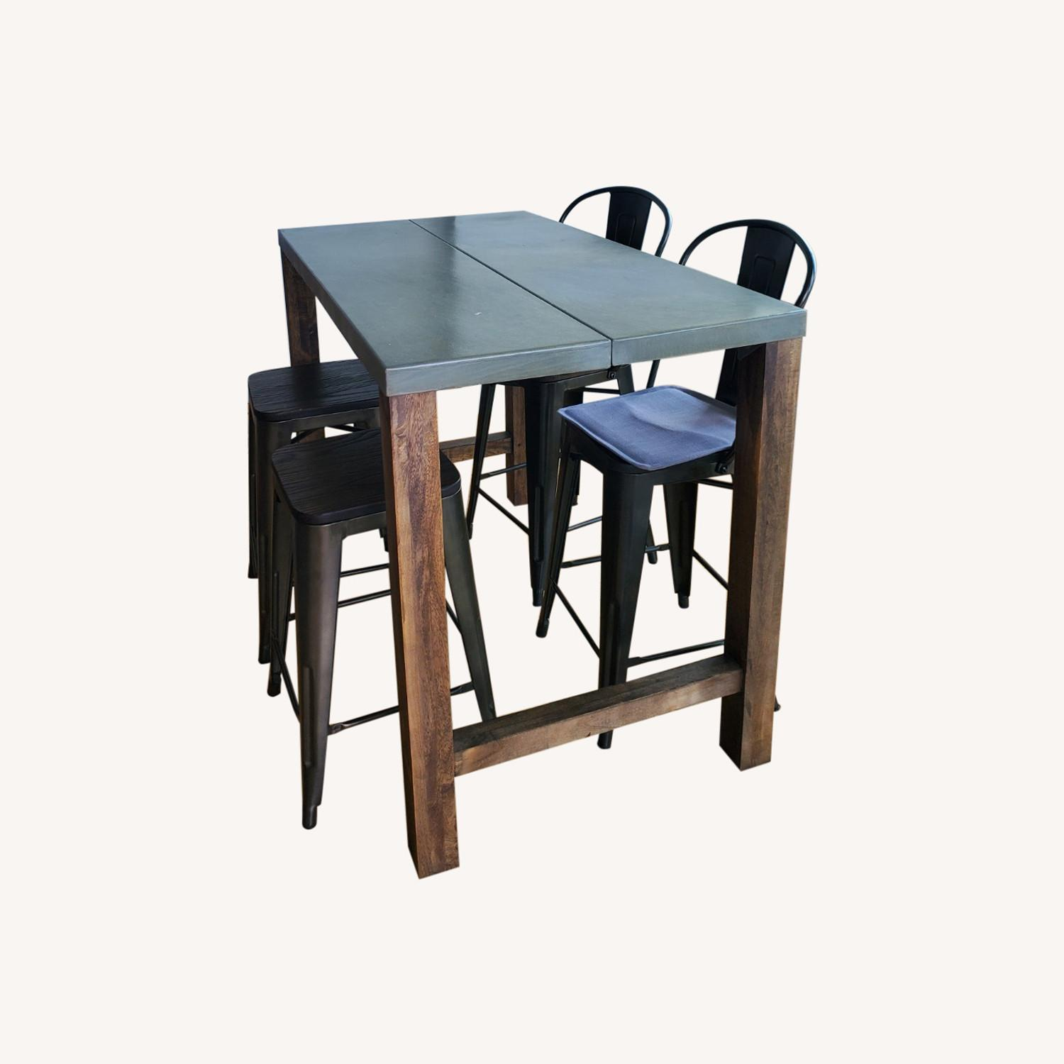 CB2 Industrial Dining Table & Chairs - image-0