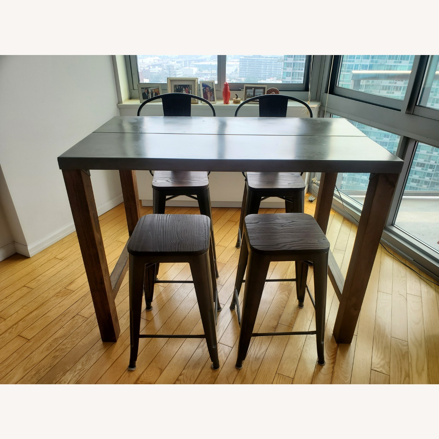 CB2 Industrial Dining Table & Chairs - image-2