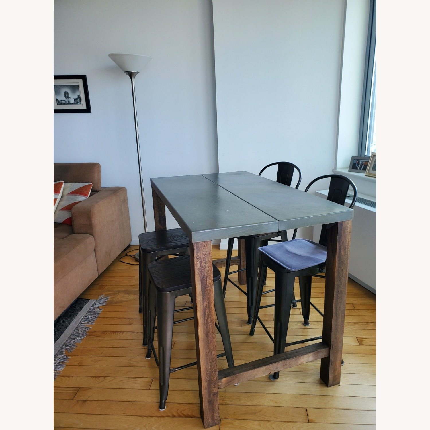 CB2 Industrial Dining Table & Chairs - image-1