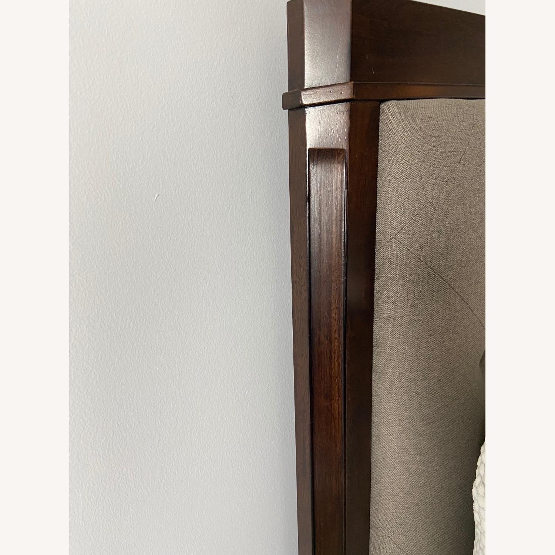 Dark Wood King Bed w/Footboard - image-3