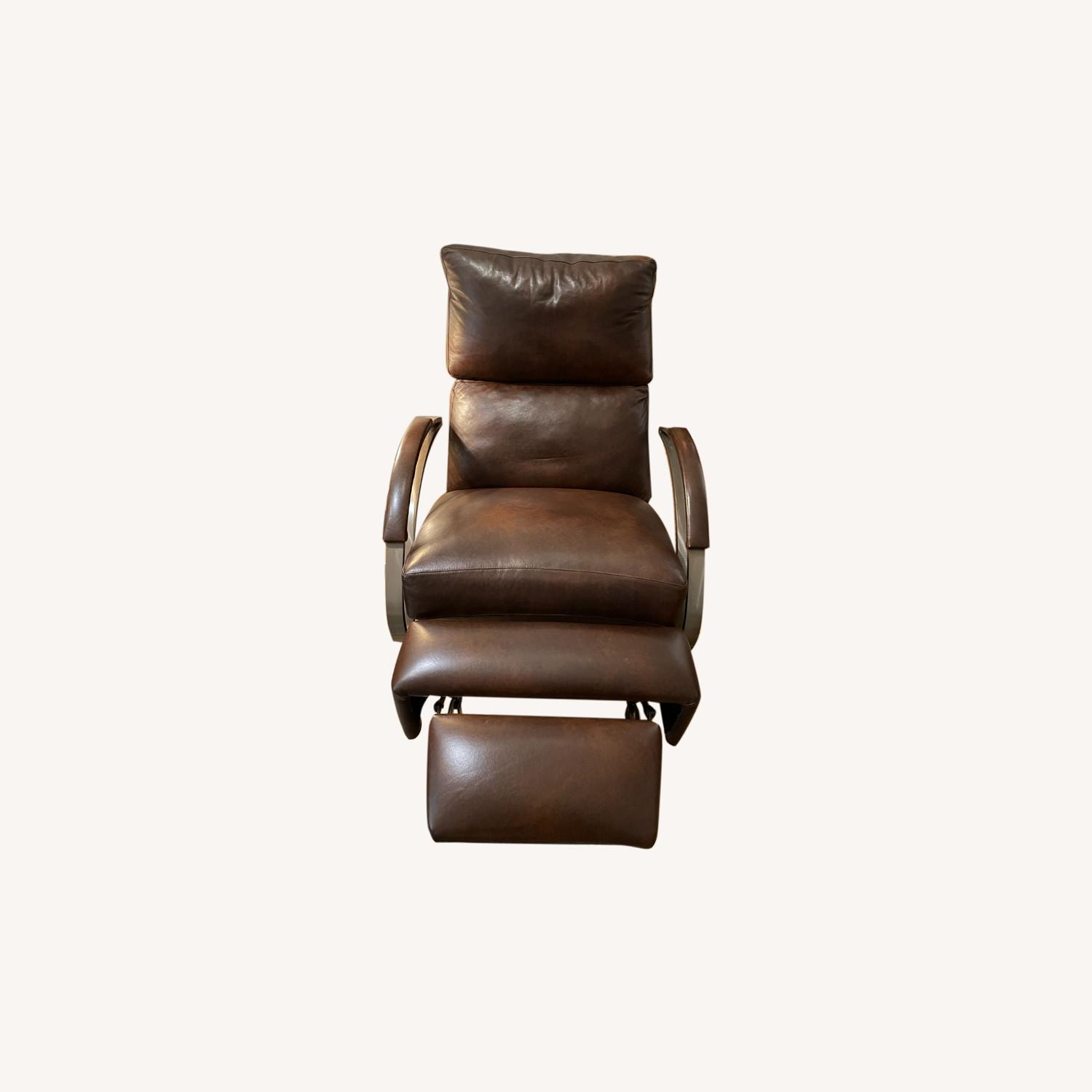 Bloomingdale's Modern Leather Recliner Chair - image-0