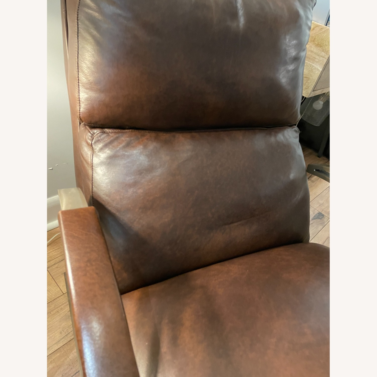 Bloomingdale's Modern Leather Recliner Chair - image-5