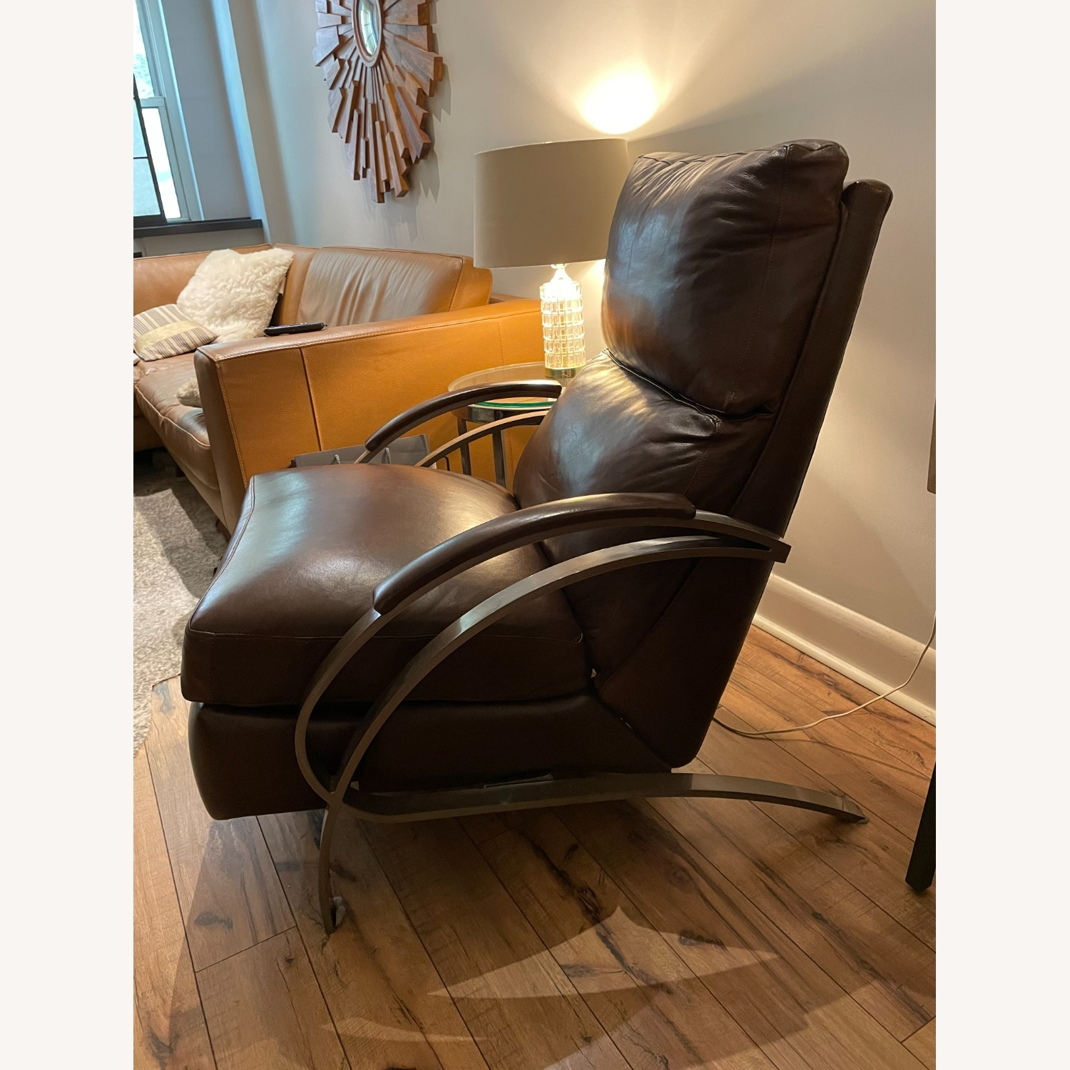 Bloomingdale's Modern Leather Recliner Chair - image-2