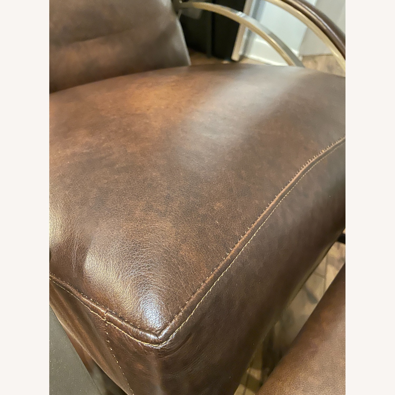 Bloomingdale's Modern Leather Recliner Chair - image-6