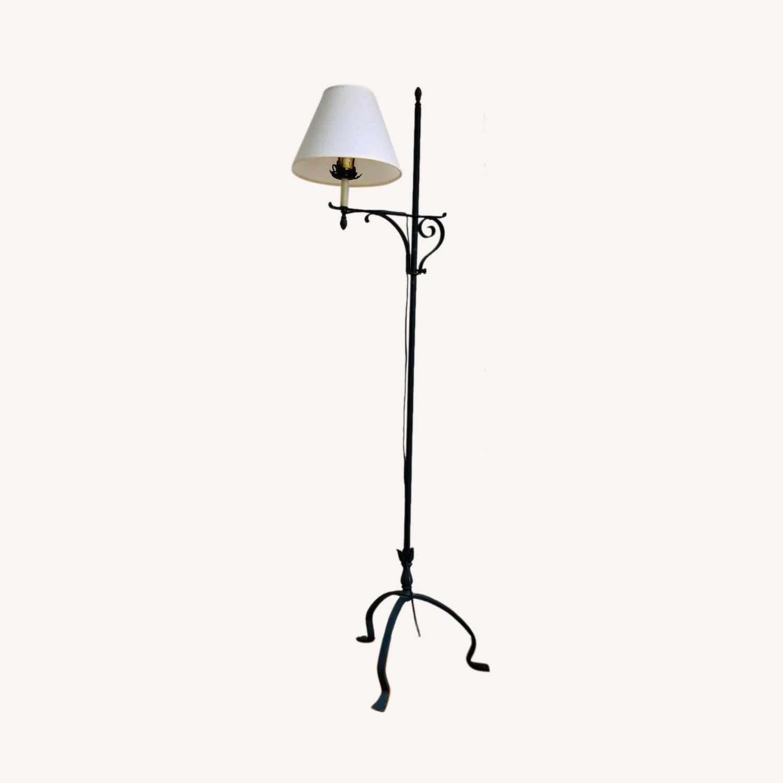 Black Wrought Iron Indoor/Outdoor Floor Lamp - image-0