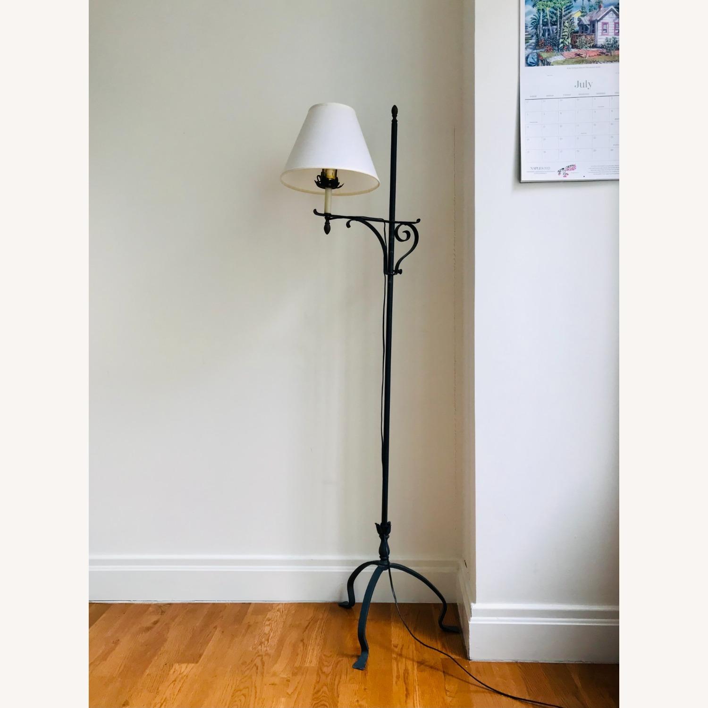 Black Wrought Iron Indoor/Outdoor Floor Lamp - image-1
