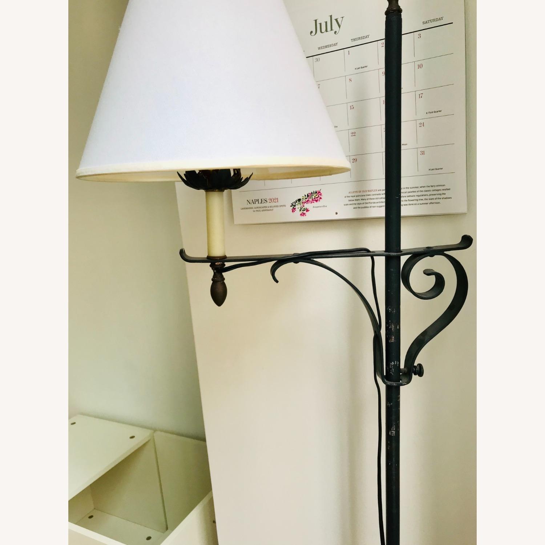 Black Wrought Iron Indoor/Outdoor Floor Lamp - image-3