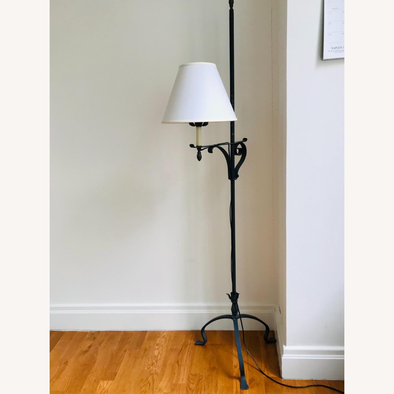 Black Wrought Iron Indoor/Outdoor Floor Lamp - image-2