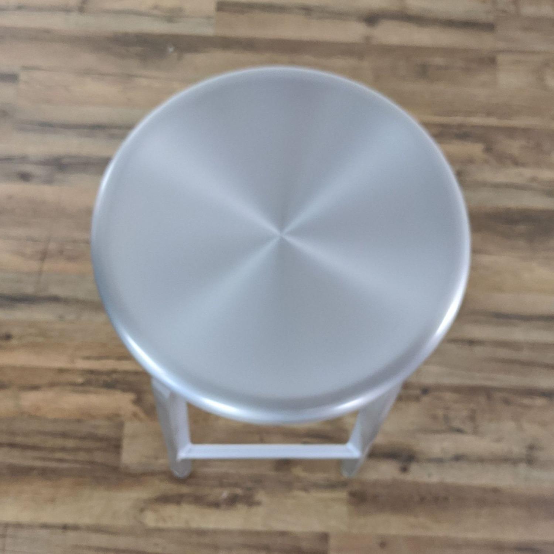 Crate & Barrel Silver Bar Stools - image-4