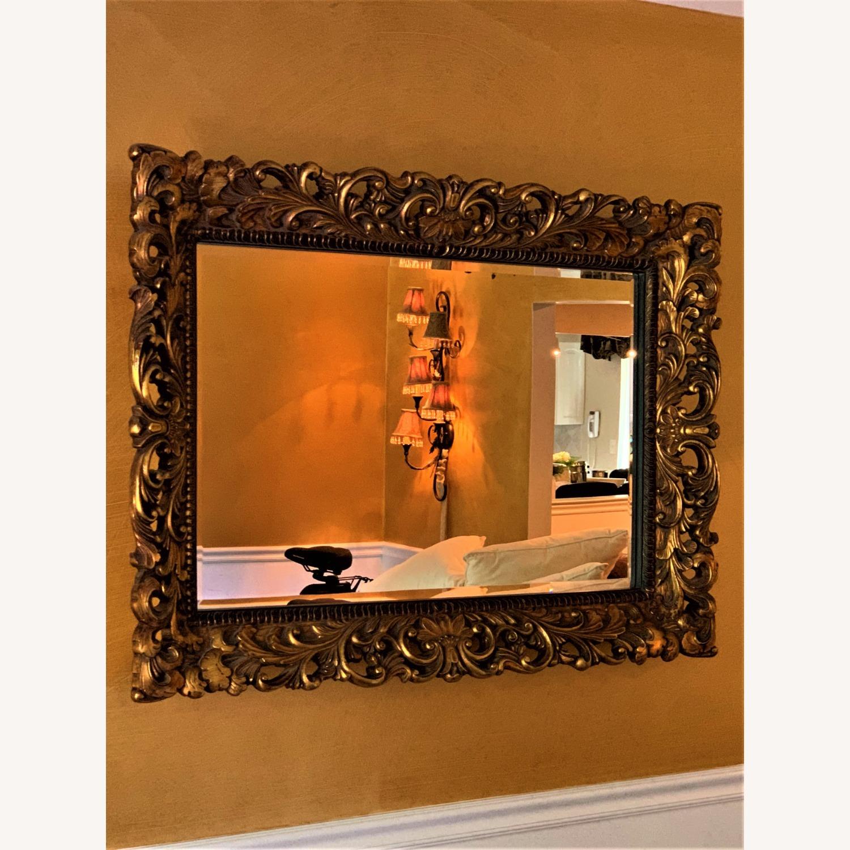 Gold Ornate Mirror - image-1