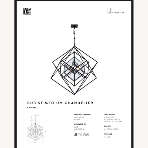 Used Kelly Wearstler Cubist Medium Chandlier for sale on AptDeco