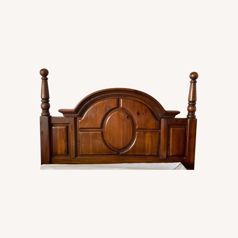 Large Wooden Headboard - image-0