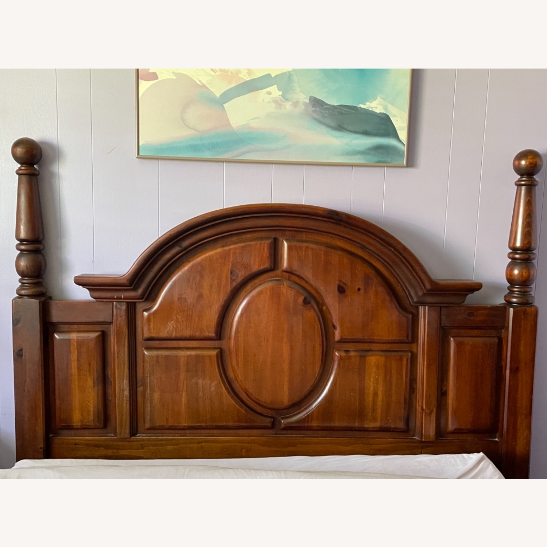 Large Wooden Headboard - image-1