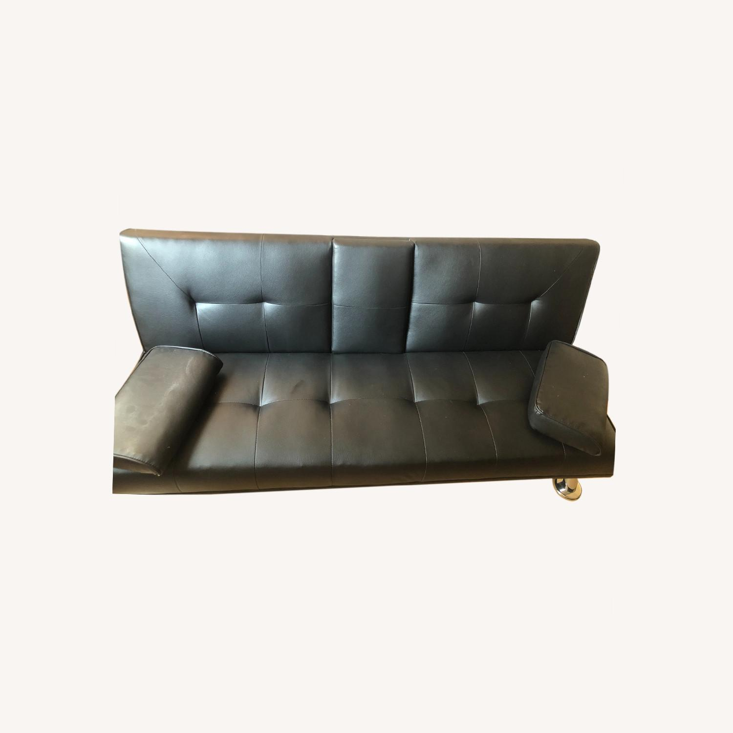 Wayfair Faux Leather Sofa Bed - Twin - image-0