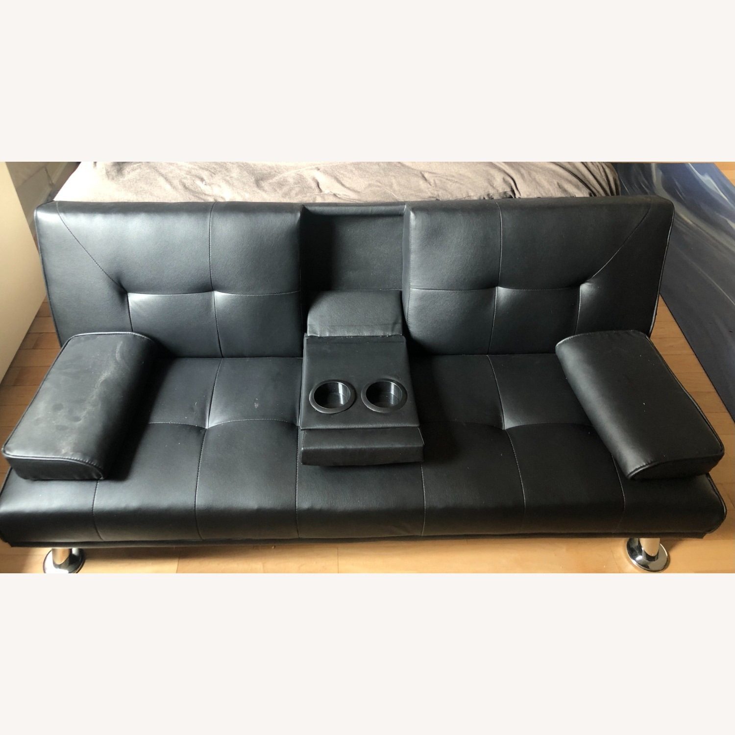 Wayfair Faux Leather Sofa Bed - Twin - image-3